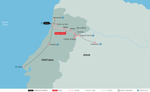 ortugal, Spain, and The Douro River Valley map