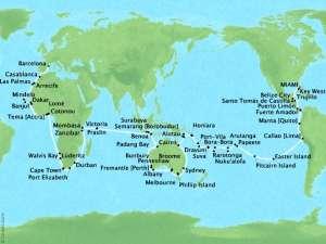 Extraordinary Oceans - World Cruise - map